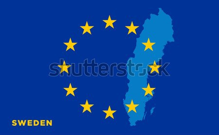 Flag of European Union with Sweden on background Stock photo © tkacchuk