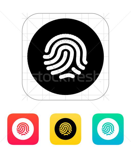 Thumbprint scanner icon. Stock photo © tkacchuk