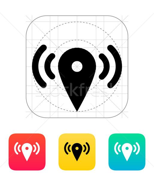 Foto stock: Mapa · ponto · sinalizar · ícone · estrada · casa