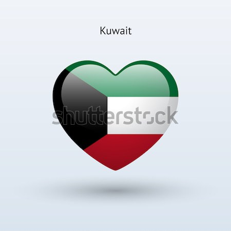 Amor Kuwait símbolo corazón bandera icono Foto stock © tkacchuk
