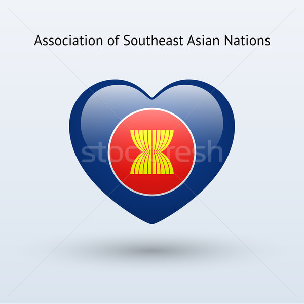 Love Association of Southeast Asian Nations symbol. Stock photo © tkacchuk