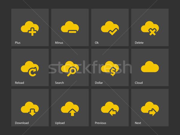 Chmura ikona Internetu laptop technologii podpisania Zdjęcia stock © tkacchuk