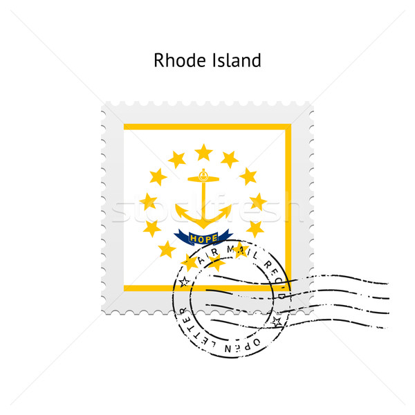 State of Rhode Island flag postage stamp. Stock photo © tkacchuk