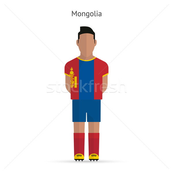 Mongolia football player. Soccer uniform. Stock photo © tkacchuk