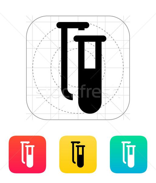 Test tubes icon. Vector illustration. Stock photo © tkacchuk