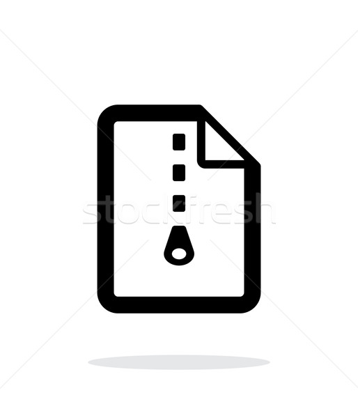 Archive file icon on white background. Stock photo © tkacchuk