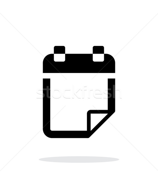 Note flip icon on white background. Stock photo © tkacchuk