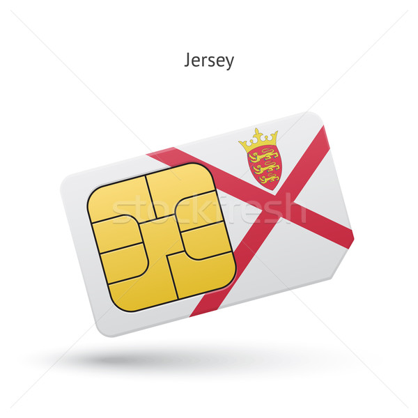 Jersey mobile phone sim card with flag. Stock photo © tkacchuk