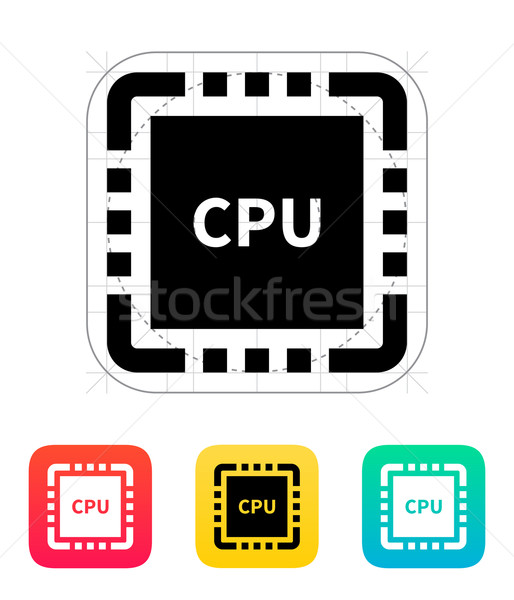 Cpu Name Symbol Vektor Illustration Design Stock foto © tkacchuk