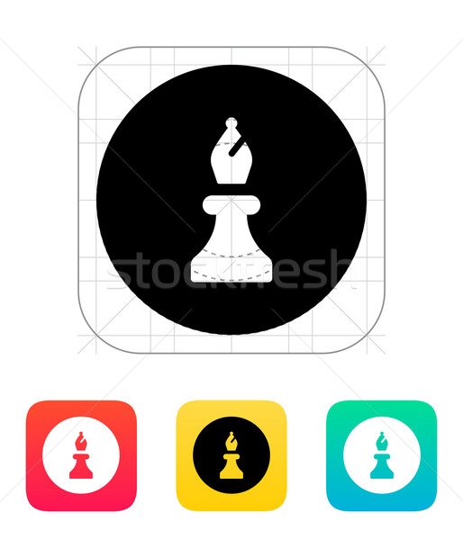 Stock photo: Chess Bishop icon.