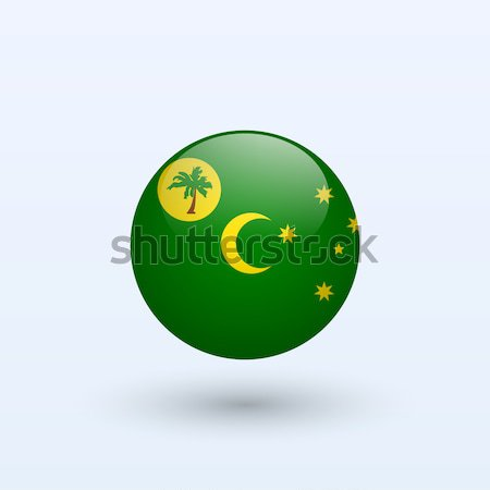 Cocos Islands and Keeling Islands round flag. Stock photo © tkacchuk