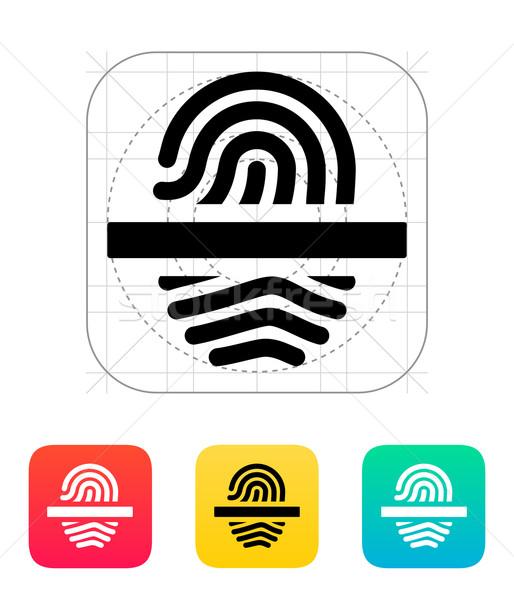 Scanning finger icon. Stock photo © tkacchuk
