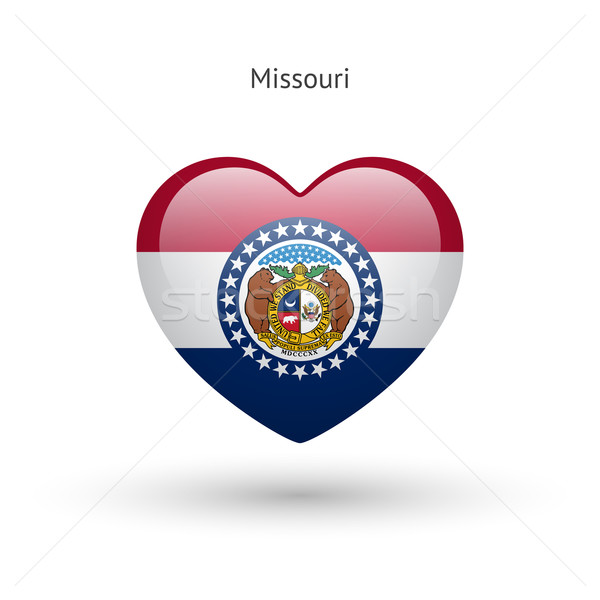 Love Missouri state symbol. Heart flag icon. Stock photo © tkacchuk