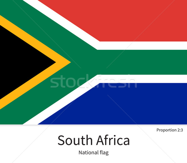 National flag of South Africa with correct proportions, element, colors Stock photo © tkacchuk