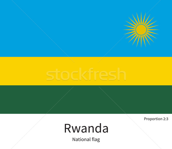National flag of Rwanda with correct proportions, element, colors Stock photo © tkacchuk