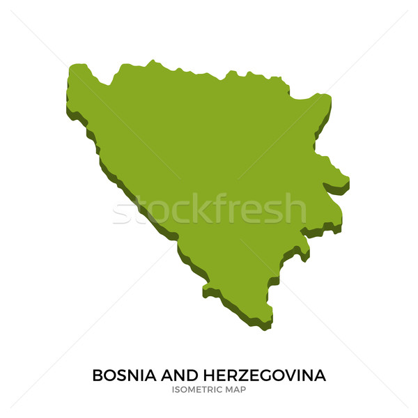 Isometric map of Bosnia and Herzegovina detailed vector illustration Stock photo © tkacchuk