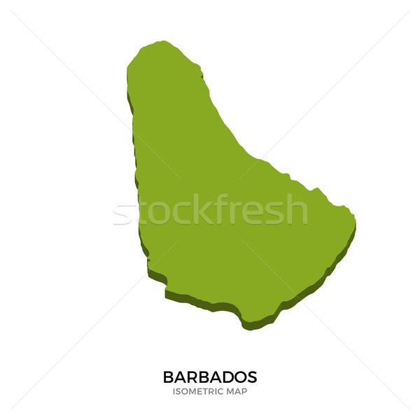 Isometric map of Barbados detailed vector illustration Stock photo © tkacchuk
