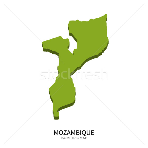 Isometric map of Mozambique detailed vector illustration Stock photo © tkacchuk