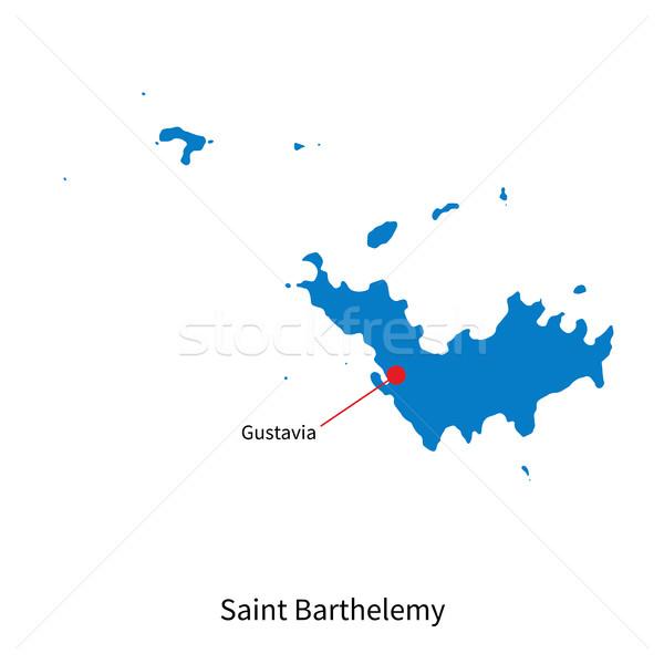 Részletes vektor térkép szent város oktatás Stock fotó © tkacchuk