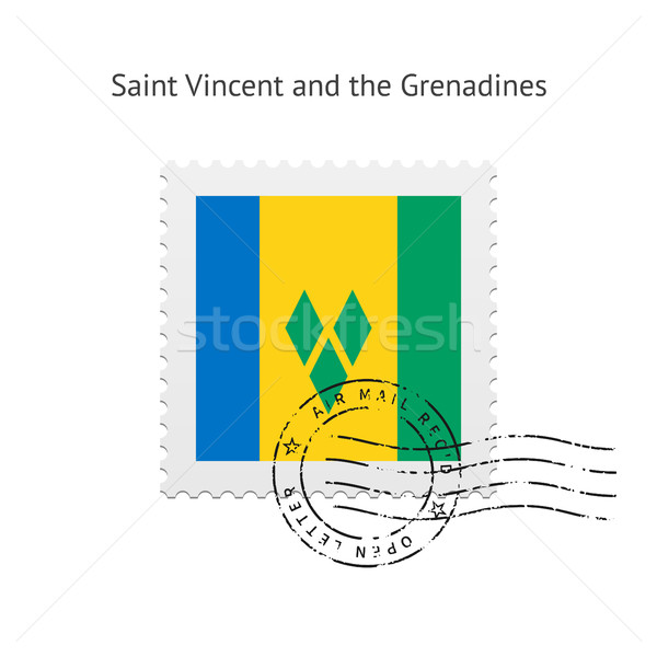 Saint Vincent and the Grenadines Flag Postage Stamp. Stock photo © tkacchuk