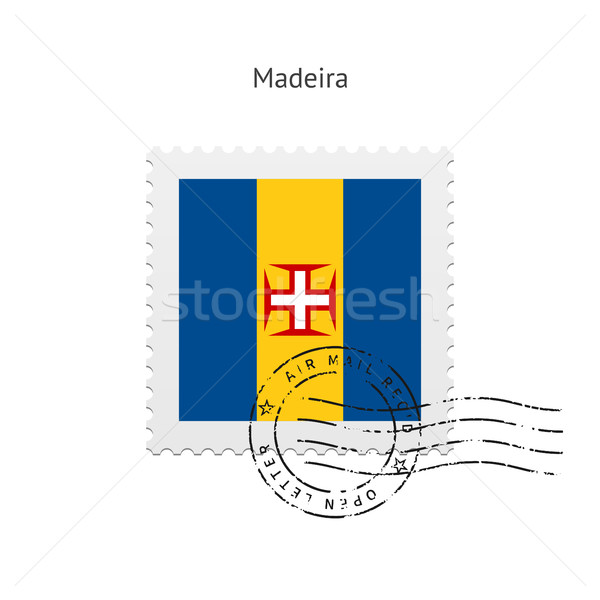 Madeira Flag Postage Stamp. Stock photo © tkacchuk