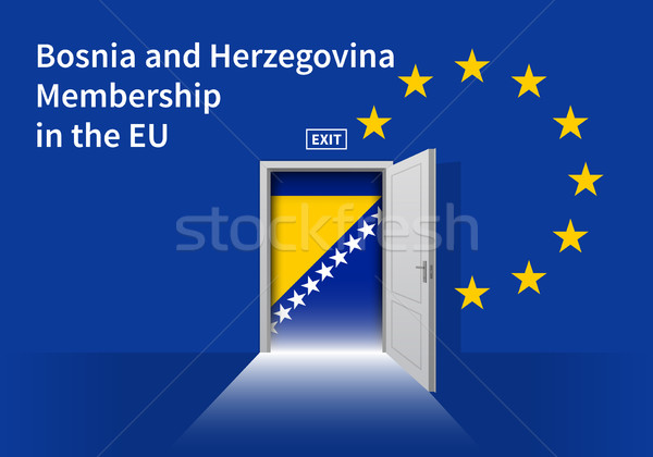 Europeo Unión bandera pared puerta ue Foto stock © tkacchuk