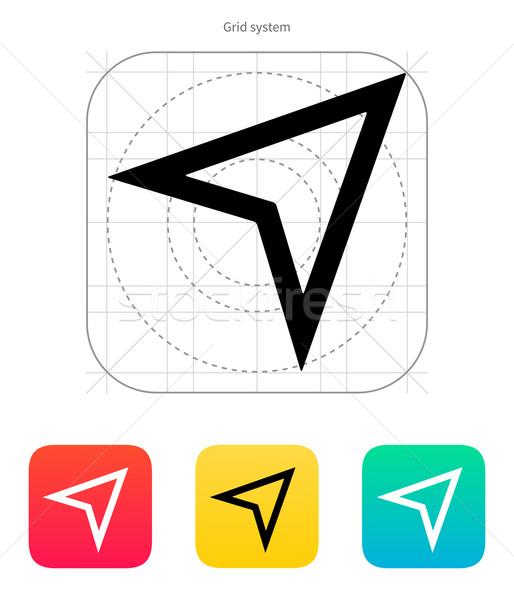 Arrow navigator icon. Vector illustration. Stock photo © tkacchuk
