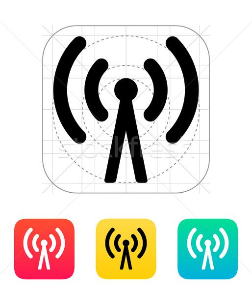 Teléfono celular torre icono tecnología inalámbrica ordenador Internet Foto stock © tkacchuk
