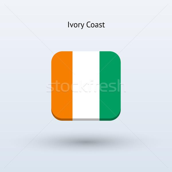 Elefántcsontpart zászló ikon terv felirat háló Stock fotó © tkacchuk