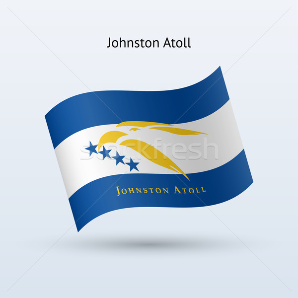 Johnston Atoll flag waving form. Stock photo © tkacchuk