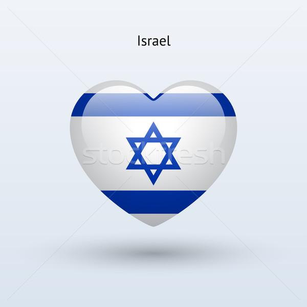 Sevmek İsrail simge kalp bayrak ikon Stok fotoğraf © tkacchuk