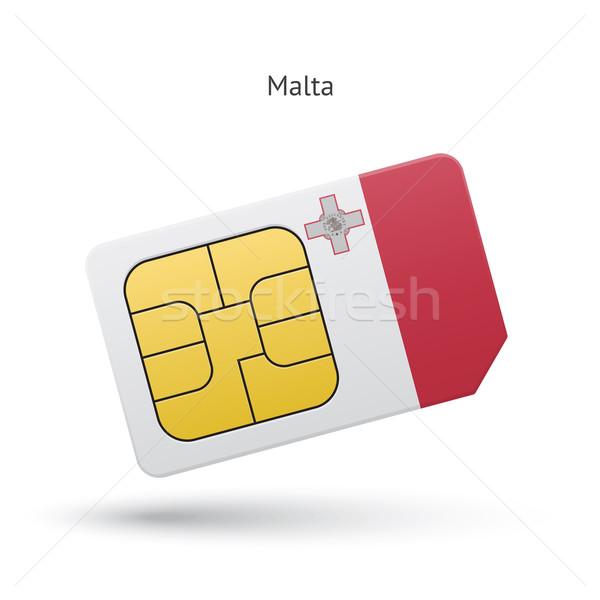 Malta mobiele telefoon kaart vlag business ontwerp Stockfoto © tkacchuk