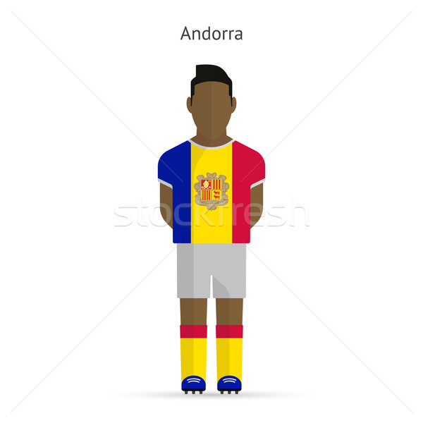 Andorra football player. Soccer uniform. Stock photo © tkacchuk