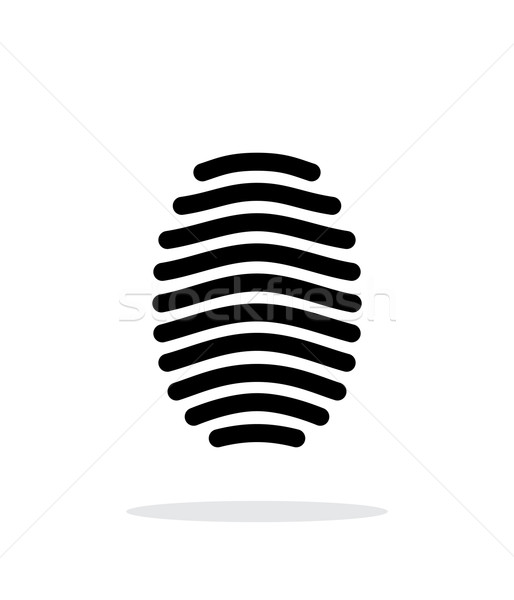 Fingerprint arch type icon on white background. Stock photo © tkacchuk