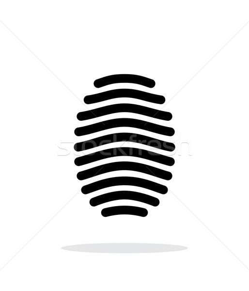 Ujjlenyomat ív ikon fehér terv Stock fotó © tkacchuk