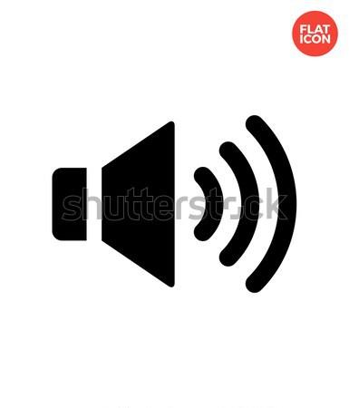 Volume orateur icône blanche musique internet Photo stock © tkacchuk