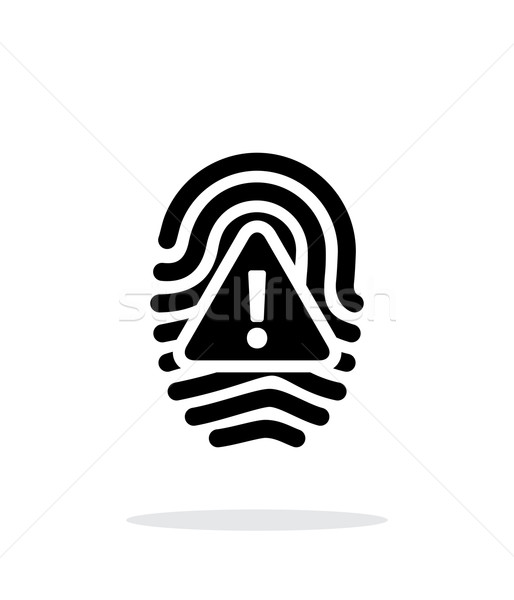 Fingerprint scan error icon on white background. Stock photo © tkacchuk