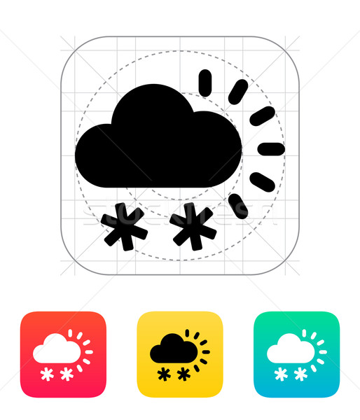 Snowfall weather icon. Stock photo © tkacchuk