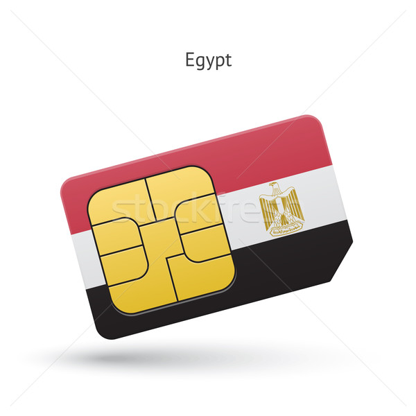 Египет мобильного телефона карт флаг бизнеса дизайна Сток-фото © tkacchuk