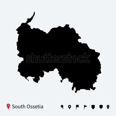 Magas részletes vektor térkép Kazahsztán navigáció Stock fotó © tkacchuk