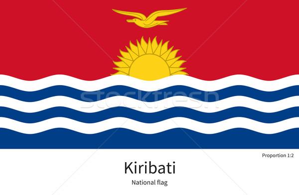 Bandiera Kiribati correggere elemento colori istruzione Foto d'archivio © tkacchuk