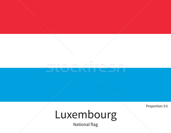 National flag of Luxembourg with correct proportions, element, colors Stock photo © tkacchuk