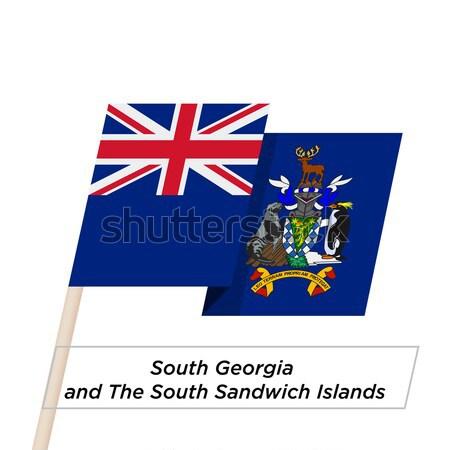 Cartão de crédito sul Geórgia sanduíche bandeira Foto stock © tkacchuk