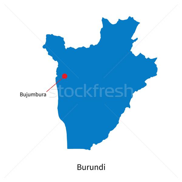 Detalhado vetor mapa Burundi cidade educação Foto stock © tkacchuk