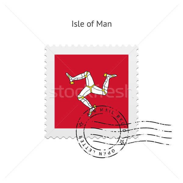 Isle of Man Flag Postage Stamp. Stock photo © tkacchuk