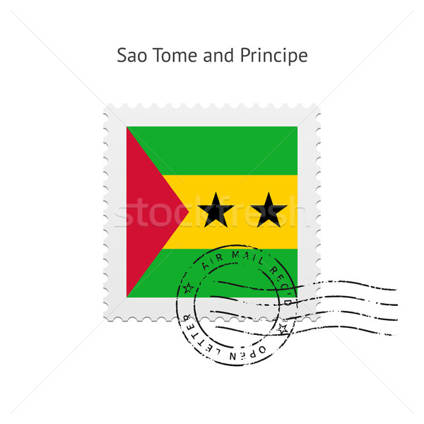 Sao Tome and Principe Flag Postage Stamp. Stock photo © tkacchuk