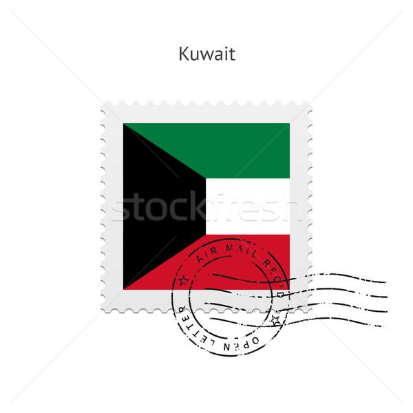 Kuwait Flag Postage Stamp. Stock photo © tkacchuk