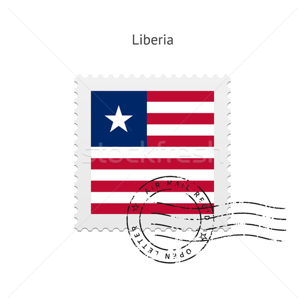 Liberia Flag Postage Stamp. Stock photo © tkacchuk