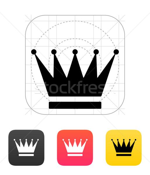 Korony ikona tle sylwetka moc biżuteria Zdjęcia stock © tkacchuk