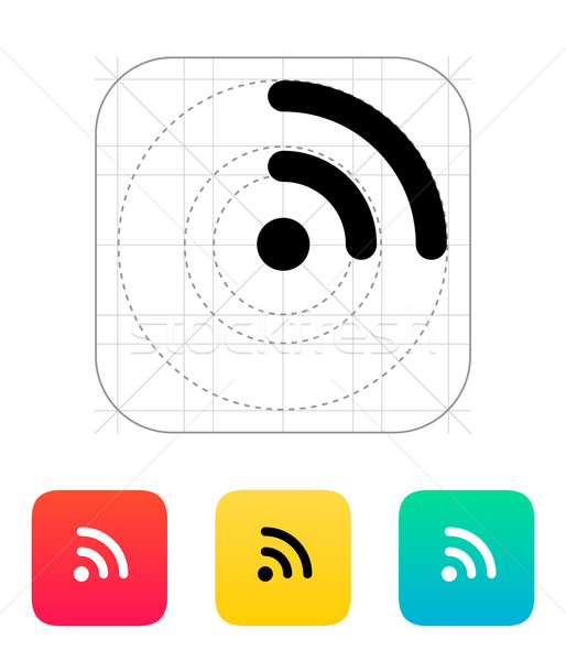 Radio segnale wifi icona tecnologia senza fili computer Foto d'archivio © tkacchuk